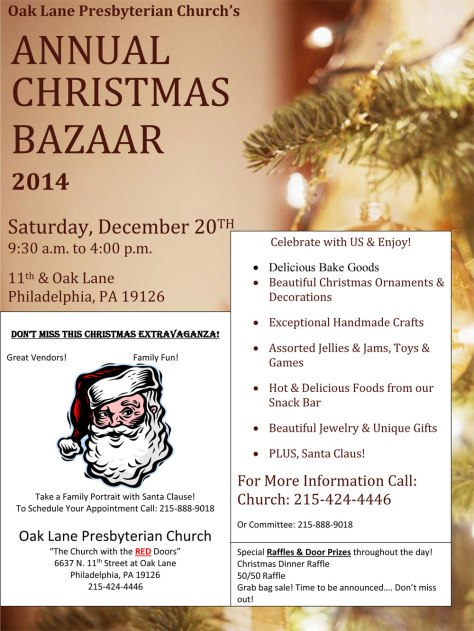 OLPC Christmas Bazaar Flyer 2014