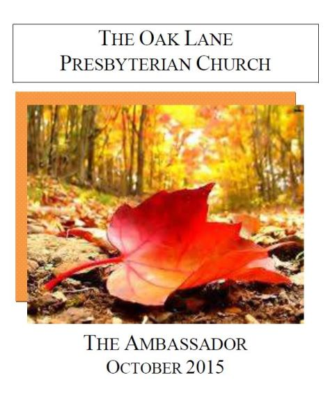 October Ambassador 2015 cover