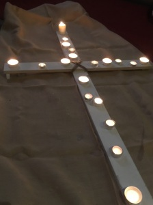 Candle Lit Cross