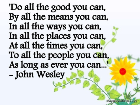 Do All The Good. John Wesley