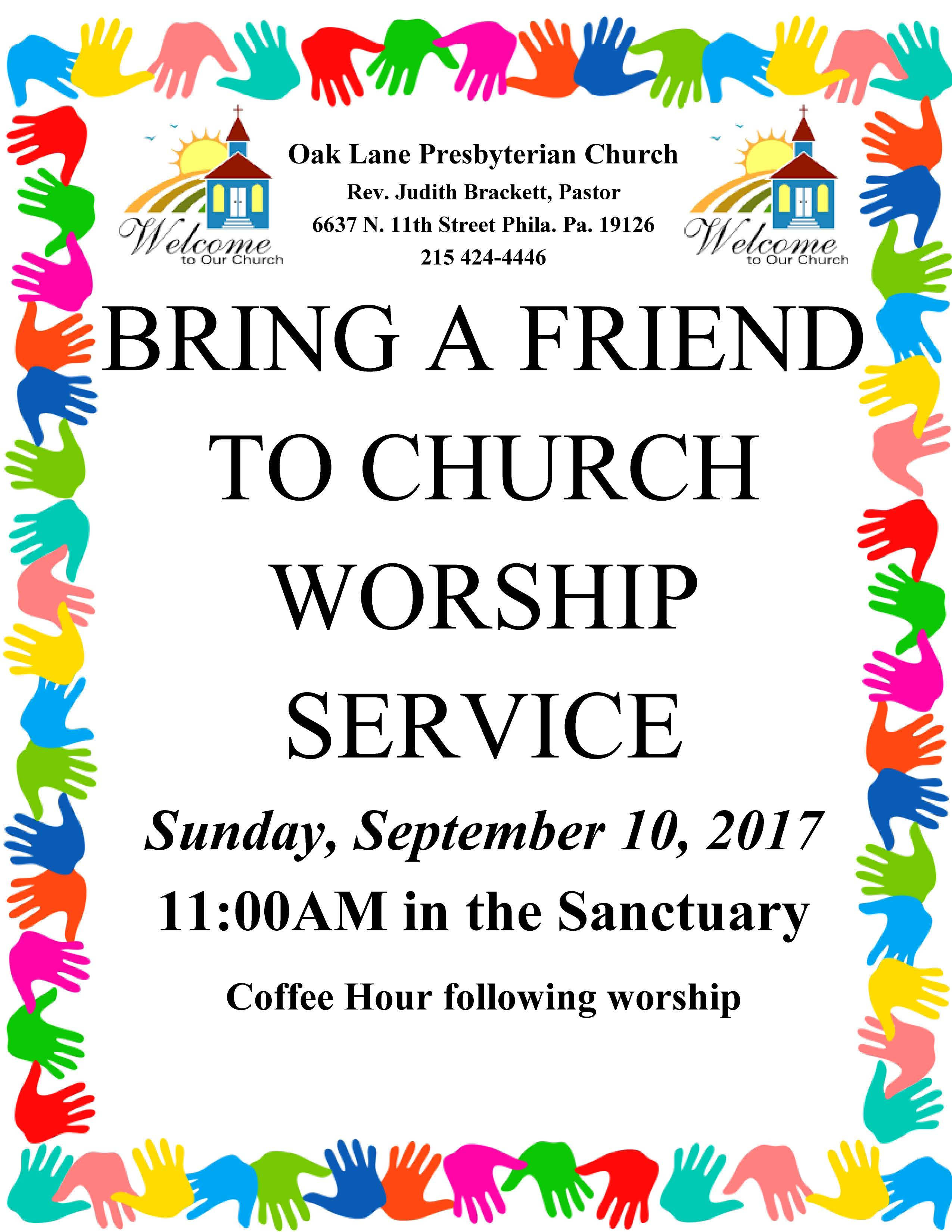 Bring a Friend Worship Service