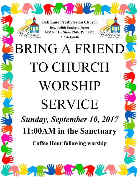 Bring a Friend Worship Service