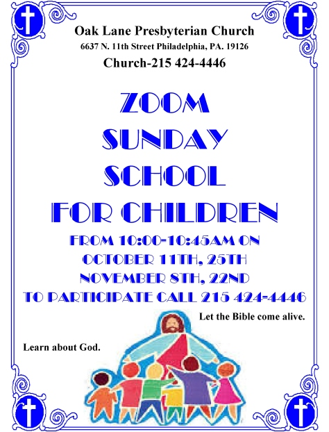 Zoom Sunday School 2020
