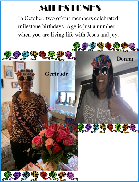 Happy Birthday to Gertrude and Donna!